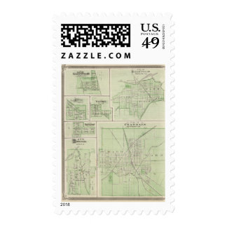 City of Franklin, Johnson Co with Shelbyville Stamps