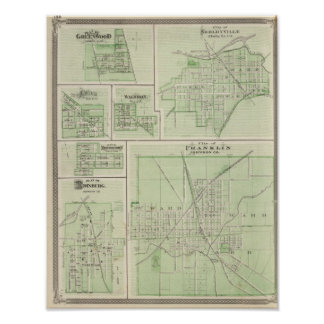 City of Franklin, Johnson Co with Shelbyville Print