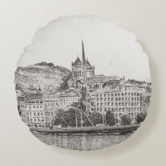 City of Geneva 2011 Round Pillow