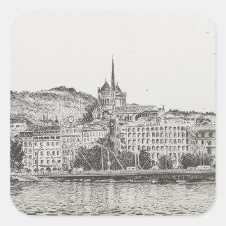 City of Geneva 2011 Square Sticker