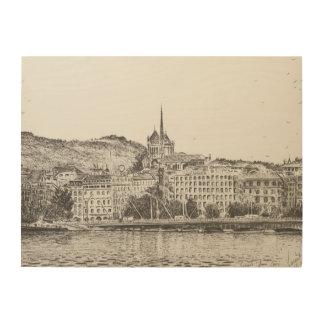 City of Geneva 2011 Wood Print