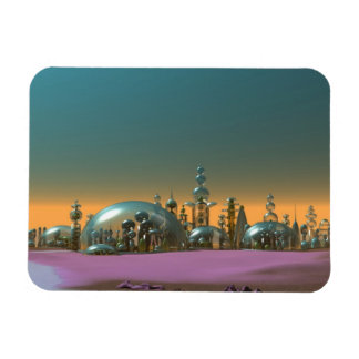 City of Glass Gold and Silver V1 Rectangular Photo Magnet