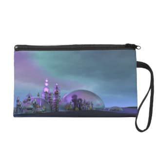 City of Glass Gold and Silver V3 Wristlet Purse