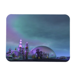 City of Glass Gold and Silver V3 Rectangular Photo Magnet