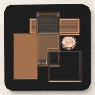 City of Glass Urban Abstract Art Coasters