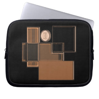 City of Glass Urban Abstract Art Laptop Sleeve