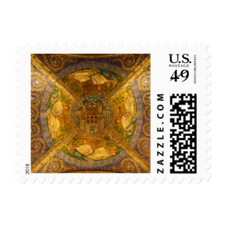 City of God Neo Byzantine mosaic cathedral ceiling Postage