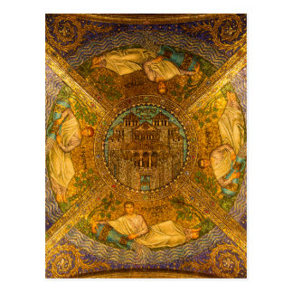 City of God Neo Byzantine mosaic cathedral ceiling Postcard
