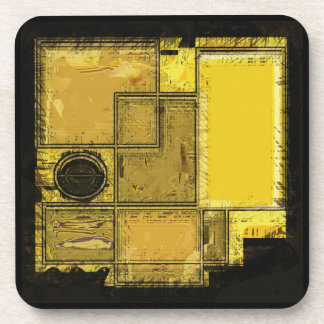 City of Gold Abstract Art Coasters