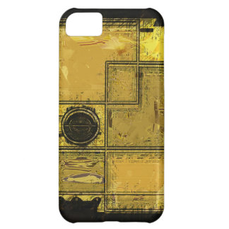 City of Gold Abstract Art iPhone Case iPhone 5C Cover
