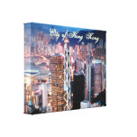 City of Hong Kong Wrapped Canvas Stretched Canvas Prints
