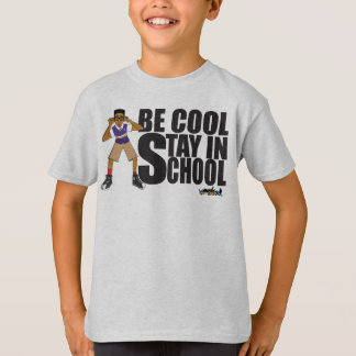 City Of Hoops: Be Cool Stay In School/ All Colors T-Shirt
