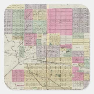City of Hutchinson, Reno County, Kansas Square Sticker