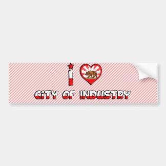 City of Industry, CA Car Bumper Sticker