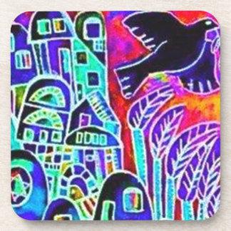 City Of Israel Ebony Drink Coaster