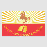 City of Jacksonville flag Rectangle Stickers