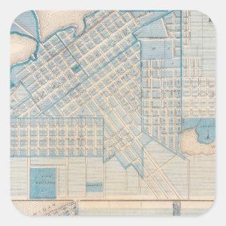 City of La Porte Michigan City, La Porte Co Square Sticker