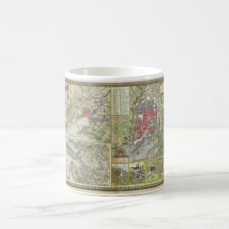 City of La Rochelle Map Siege in 1627-28 and 1773 Coffee Mug