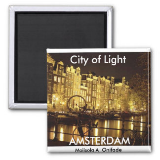 city of light Amsterdam - Customized Fridge Magnet
