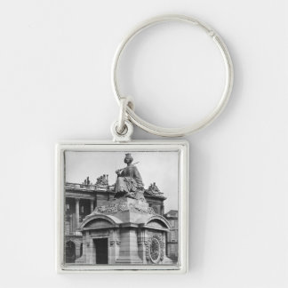 City of Lille, 1838 Silver-Colored Square Keychain