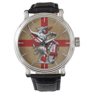 City of London Dragon on Old English Flag Wristwatch