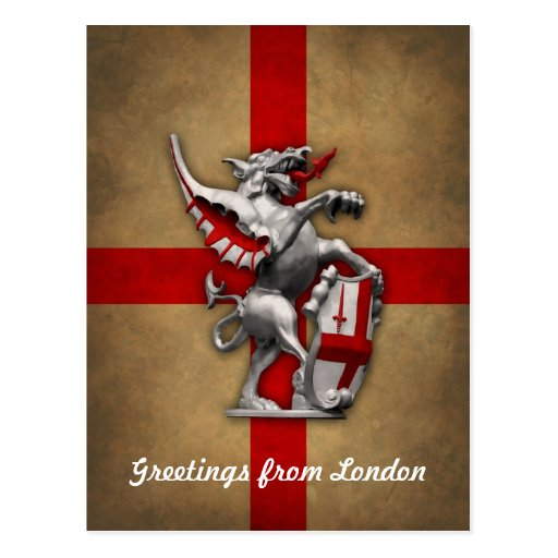 City of London Dragon Postcard