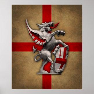 City of London Dragon poster