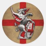 City of London Dragon round sticker