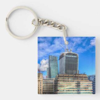 City of London Single-Sided Square Acrylic Keychain