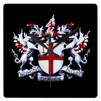 city of London Square Wall Clock