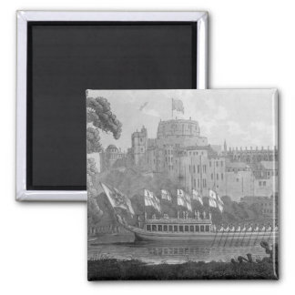 City of London State Barge 2 Inch Square Magnet