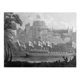 City of London State Barge Postcard