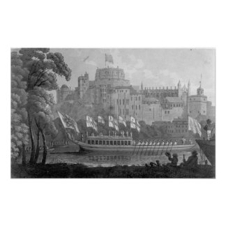 City of London State Barge Poster