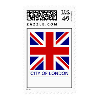 City of London - Union Jack Flag Postage Stamps