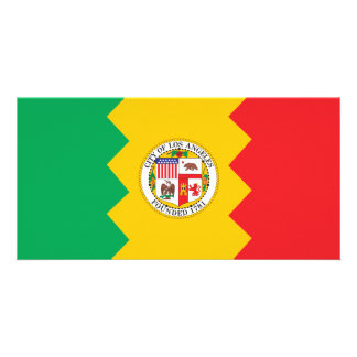 City of Los Angeles flag Card