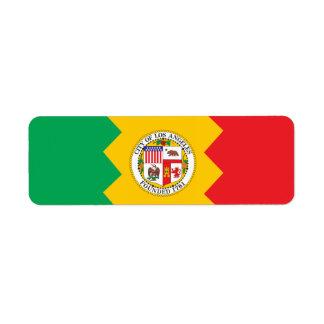 City of Los Angeles flag Label