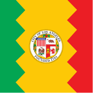 City of Los Angeles flag Statuette