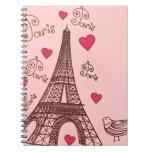 City of Love Paris Note Book
