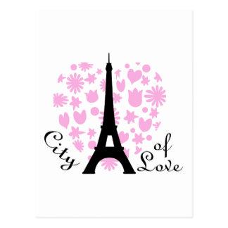 City Of Love Postcard