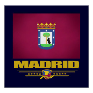 City of Madrid Poster