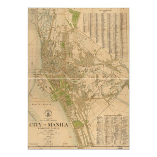 City of Manila Philippine Islands Map (1920) Card