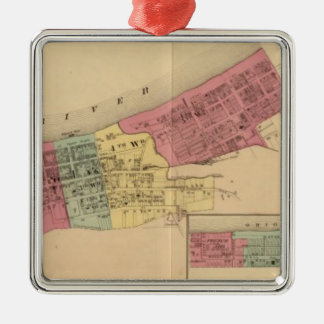 City of Maysville with Chester and Woodville Metal Ornament
