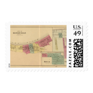 City of Maysville with Chester and Woodville Postage