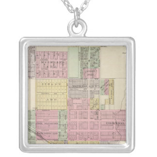 City of Medicine Lodge, Kansas Square Pendant Necklace