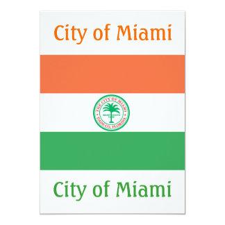 City of Miami flag Card