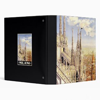 City of Milan Italian Travel Poster 1920 Vinyl Binders