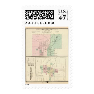City of Mineral Point and Village of Dodgeville Postage