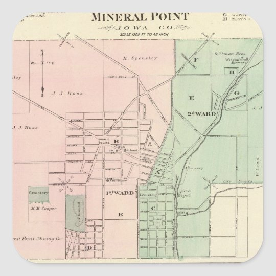 City of Mineral Point and Village of Dodgeville Square Sticker
