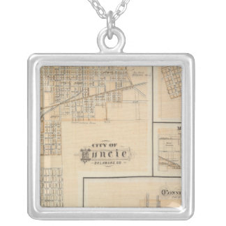 City of Muncie, Delaware Co with Yorktown Square Pendant Necklace