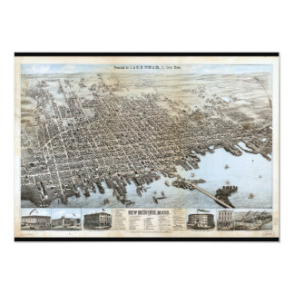 City of New Bedford Massachusetts (1876) 5x7 Paper Invitation Card